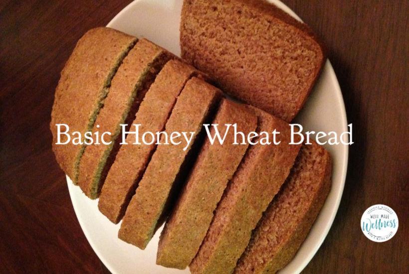 Basic honey wheat bread recipe
