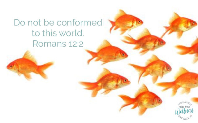 Do not be conformed to this world - Romans 12:2