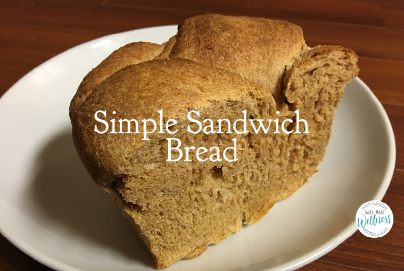 Simple sandwich bread recipe for super, simple, satiating, sandwich-style sustenance.