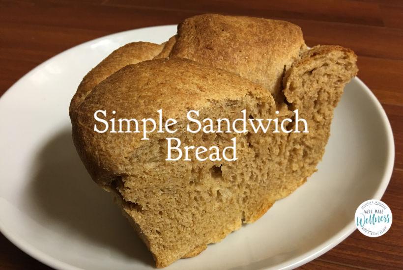 Simple sandwich bread recipe for super, simple, satiating, sandwich-style sustenance.
