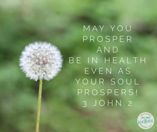 May you prosper and be in health even as your soul prospers 3 john 2