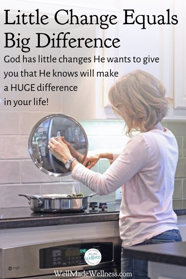 Heavy duty changes can make a heavy duty difference but tiny upgrades can enrich us even more. That goes for kitchen upgrades as well as the little changes God wants to give you that He knows will make a HUGE difference in your life! #God #faith #devotion #Christianity
