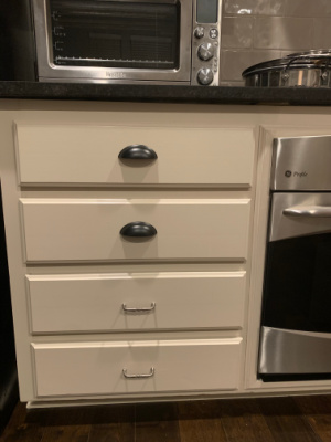 New drawer pulls, though very little, make a huge pop!